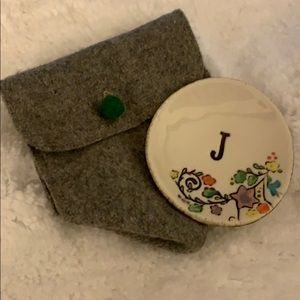 Anthropologie J Initial Trinket Dish